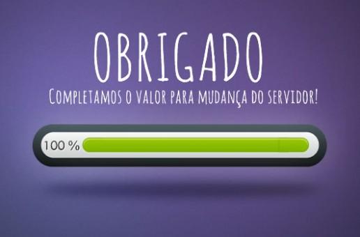 Obrigado! Servidor 100%!