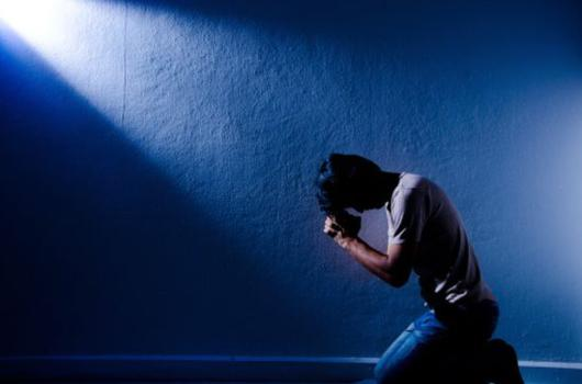 Man pray in peace