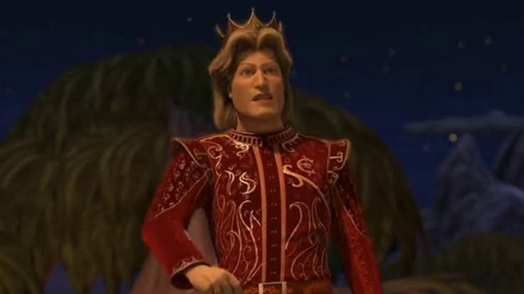 Príncipe Encantado, dos filmes Shrek, era conhecido por ser muito vaidoso e ter um conceito muito elevado de si mesmo